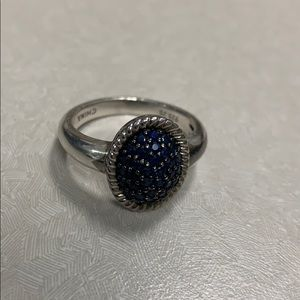 Sterling silver real sapphire ring